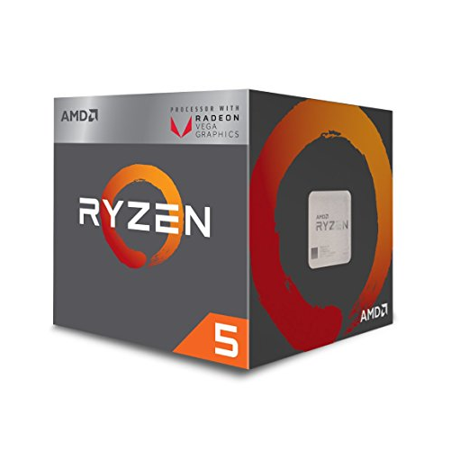 AMD Ryzen™ 5 2400G with Radeon™ RX Vega 11 (3.6GHz, 6MB Cache, up to 3.9GHz) Socket AM4 (618ELS)