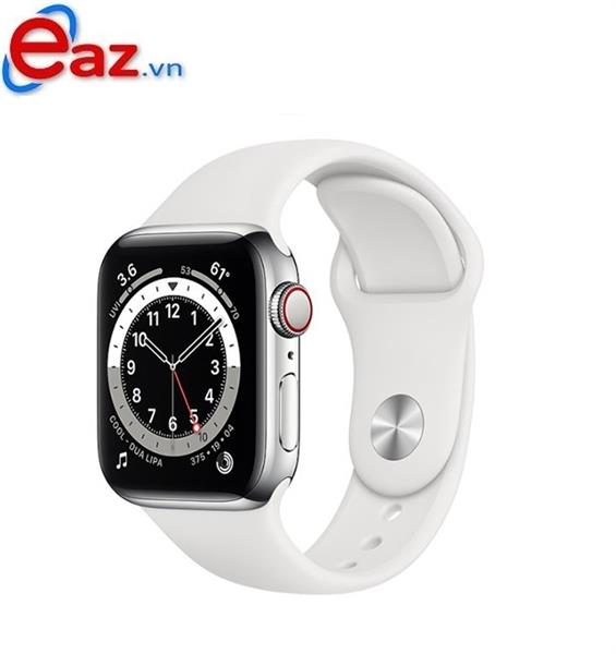 Apple Watch Series 6 GPS + Cellular 40mm M06M3VN/A Silver Aluminium Case with White Sport Band | 1120D