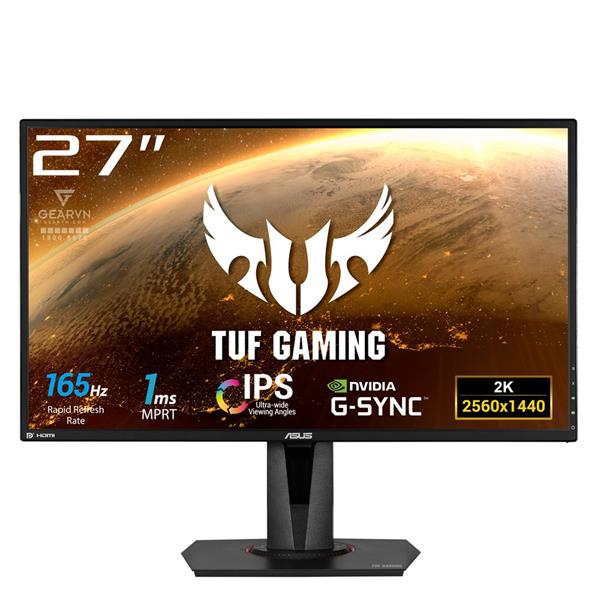 LCD Asus TUF Gaming VG27AQ | 27 inch WQHD (2560 x 1440) IPS 165Hz Sync G-SYNC _HDMI _DisplayPort 1.2 _Speakers _1119S