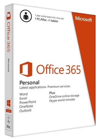 Office 365 Personal 32-bit/x64 English Subscr 1YR APAC EM Medialess (QQ2-00036)