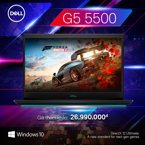 Dell Gaming G5 15 5500 (70225486) | Intel® Core™ i7 _ 10750H | 8GB | 512GB SSD PCIe | GeForce® RTX2060 with 6GB GDDR6 | Win 10 | Full HD IPS 144Hz | LED KEY RGB | Finger